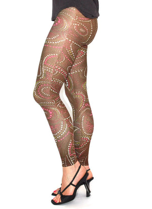 Celeste Stein Sublimation Printed Footless Tights - My Legwear Shop