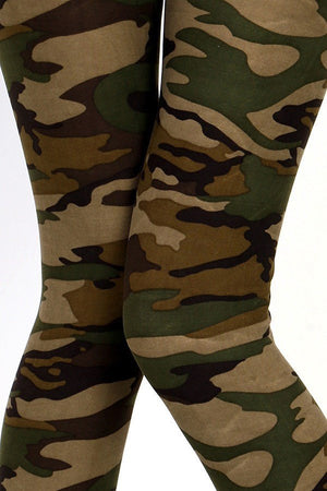 Camouflage Soft Brush Leggings - Always - My Legwear Shop