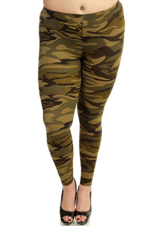 Camouflage Leggings Plus Size - My Legwear Shop