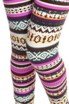 Pink Aztec Soft Brush Leggings - Always - My Legwear Shop