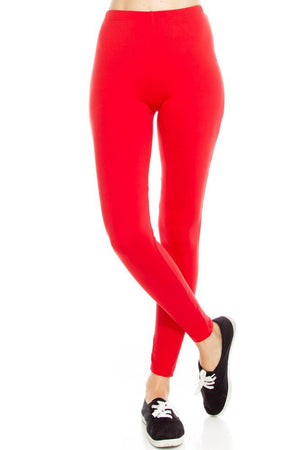 Solid Color Soft Brush Leggings - Always - My Legwear Shop