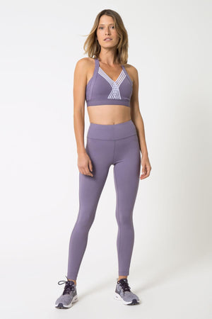 Foxy Mauve Moderate Support Sports Bra - Julianne Hough Collection MPG Sport - My Legwear Shop