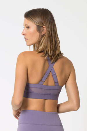 Foxy Mauve Moderate Support Sports Bra - Julianne Hough Collection MPG Sport