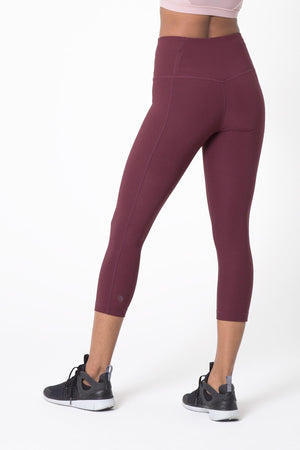 Dare High Waisted Capri Soft Plum - MPG Sport - My Legwear Shop