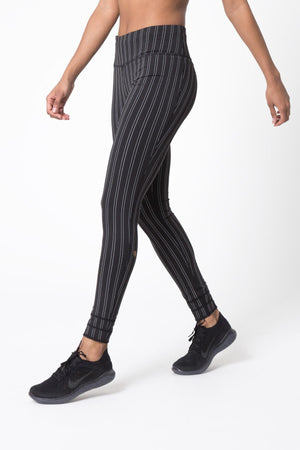 Revitalize Striped Black Legging - MPG Sport - My Legwear Shop