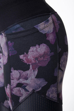 Frame 3.0 Purple Floral Panel Legging - MPG Sport - My Legwear Shop