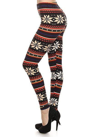 Autumn Daisy Print Legging - Always - My Legwear Shop