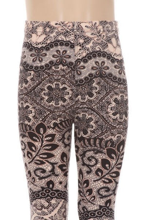 Girls Paisley Print Legging - Always - My Legwear Shop