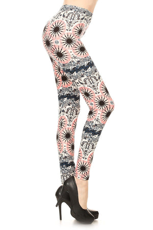 Kaleidoscope & Paisley Dream Soft Brush Leggings - J.Village by Always - My Legwear Shop