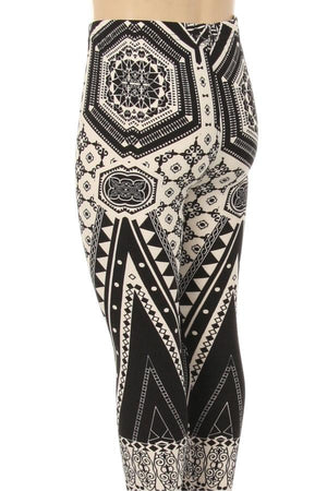 Girls Geometric Print Legging - Always - My Legwear Shop