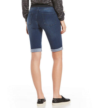 Hue Sweatshirt Denim Cuffed Bermuda Shorts - My Legwear Shop