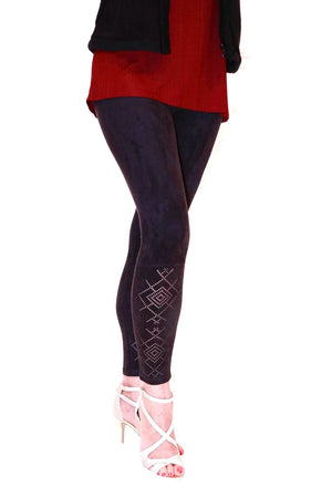 Hue Laser Cut Microsuede Leggings - My Legwear Shop