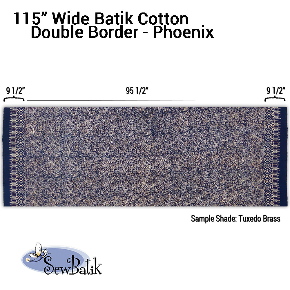 "115"" Wide Batik - Double Border Designs"