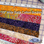 "102"" Extra Wide Batik Cotton"