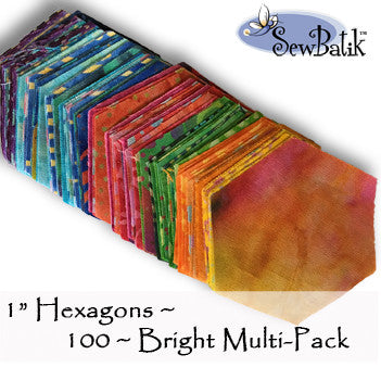 "1"" Bright Hexagons"