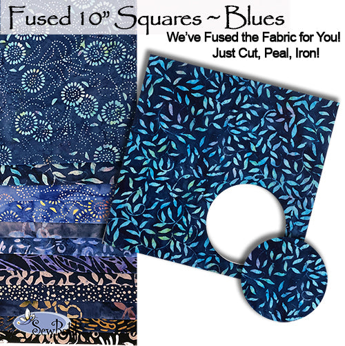 """Fused"" 10"" Square Pack - Blues"