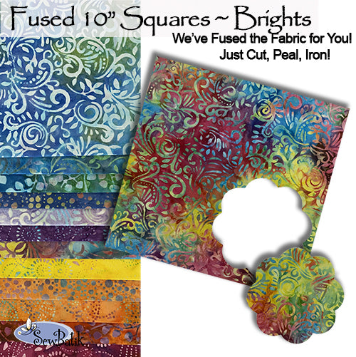 """Fused"" 10"" Square Pack - Brights"