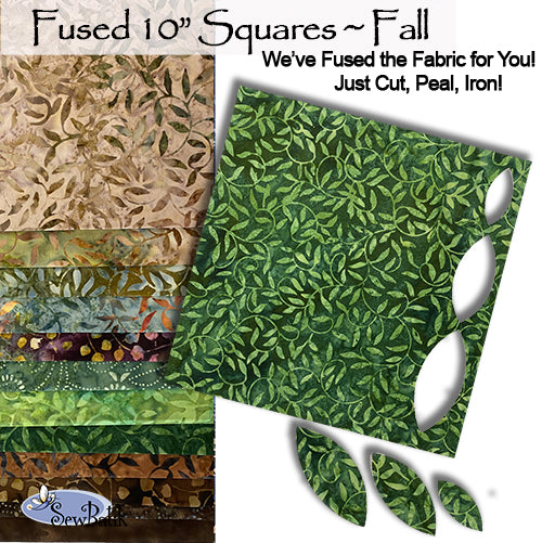 """Fused"" 10"" Square Pack - Fall"