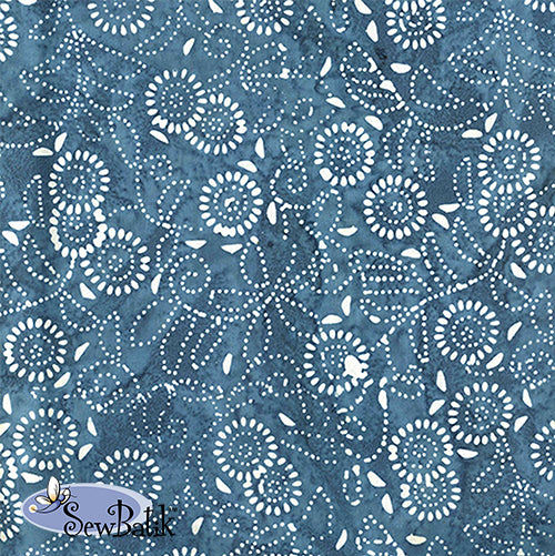 "115"" Wide - Medora Flora - Dusty Denim"