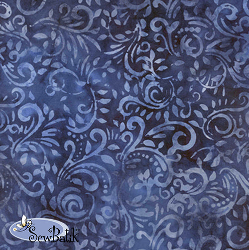 "115"" Wide Batik - Phoenix - Twilight Blue"