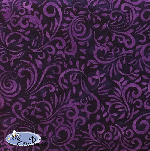 "102"" Wide Batik - Phoenix - Purple Magic"