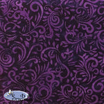 "115"" Wide Batik - Phoenix - Purple Magic"