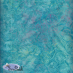 "45"" Cotton - Pinpoint Leaf - Blue Atoll"