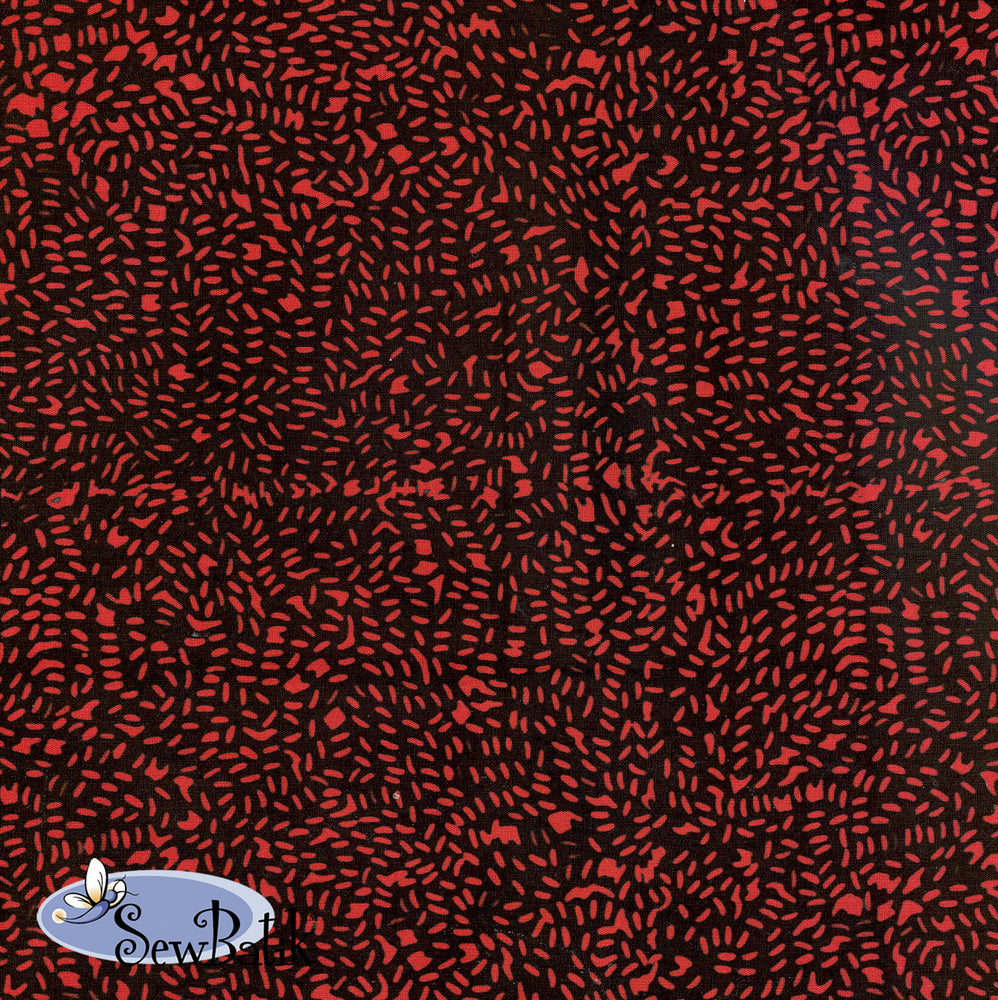 "45"" Cotton - Fizz - Black Red"
