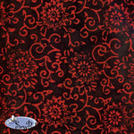 "45"" Cotton - Nara - Black Red"