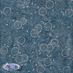 "45"" Cotton - Medora Flora - Dusty Denim"