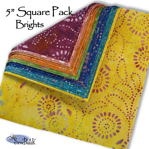 "5"" Square Pack - Brights"