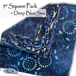 "5"" Square Pack - Deep Blue Sea"