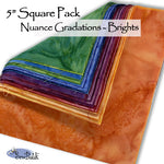 "5"" Square Pack - Nuance Gradations - Bright"