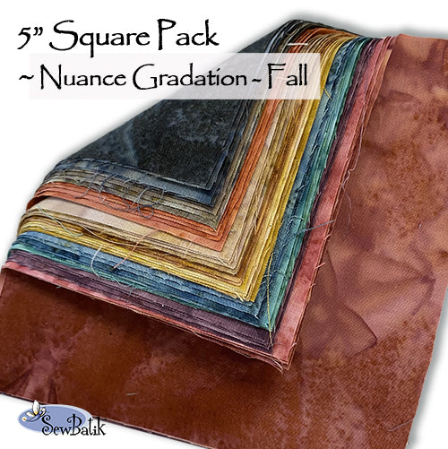 "5"" Square Pack - Nuance Gradations - Fall"