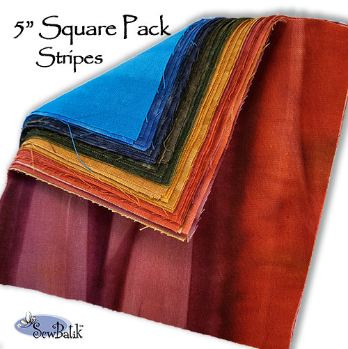 "5"" Square Pack - Stripes"