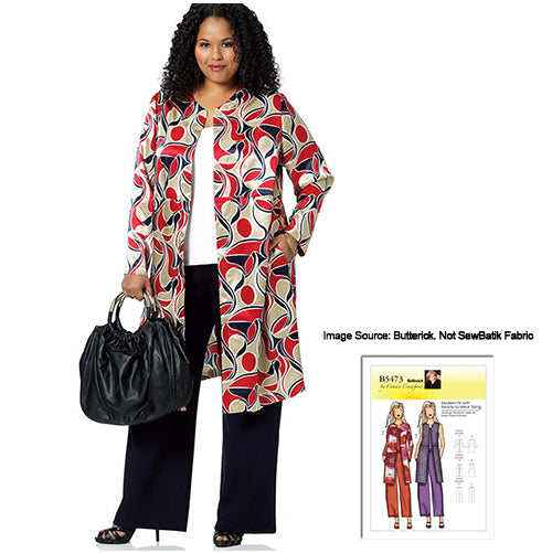 Stylish Jacket - Pattern/Rayon Duo