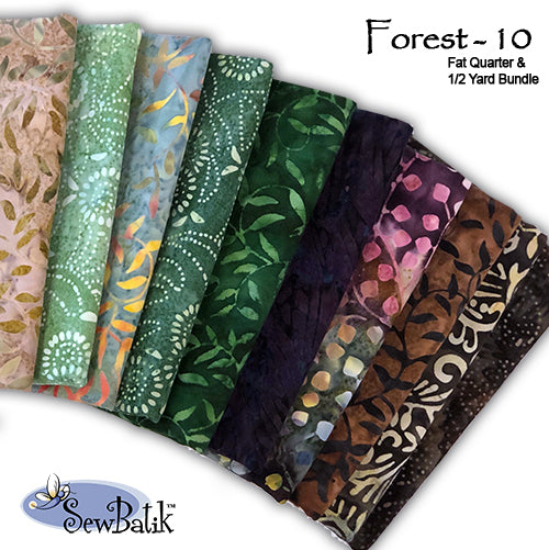 Cotton Bundle: Forest - 10