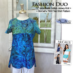 Fashion Duo - Jersey Knit + McCall's 7600 (2 Fabric Version)