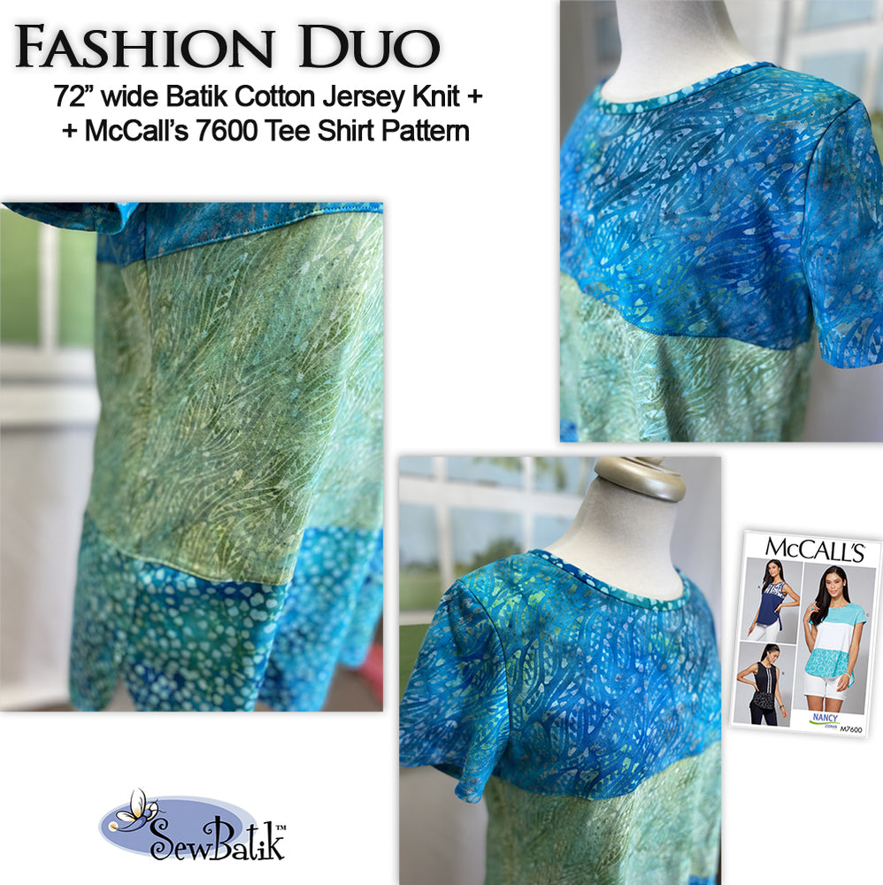 Fashion Duo - Jersey Knit + McCall's 7600 (3 Fabric Version)