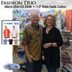 "Fashion Duo - Men's Shirt + 115"" Batik Cotton"