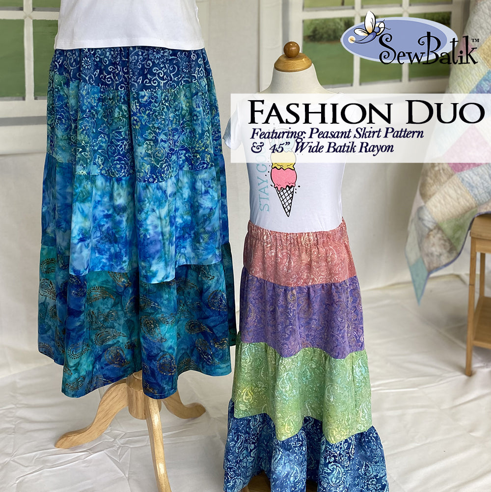 Peasant Skirt Duo: Lake/Blue