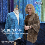 Fashion Duo: Simple Rolled Edge Kimono