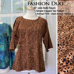 "45"" Rayon - Animal Skin - Dark Brown"