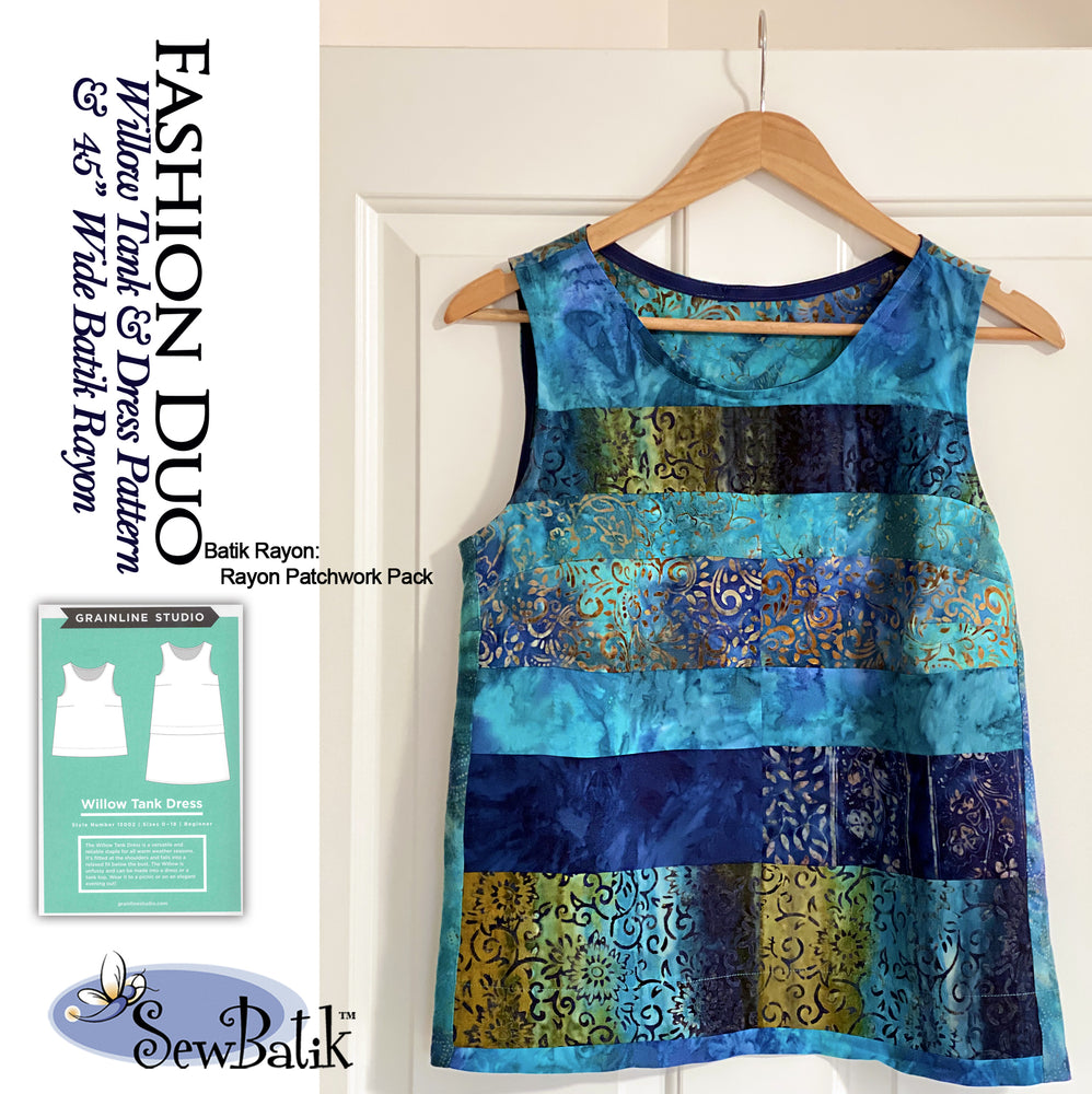 Fashion Duo:  Willow Tank Top + Batik Rayon