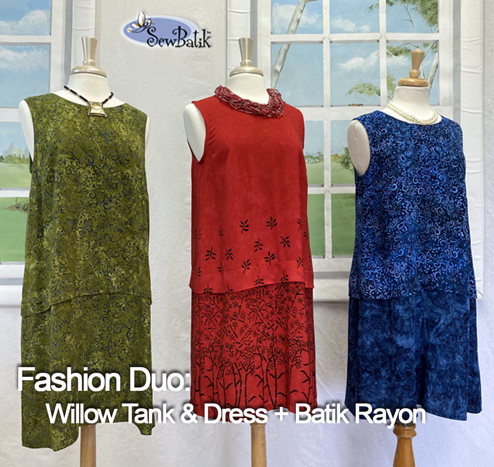 Fashion Duo:  Willow Tank Dress + Batik Rayon