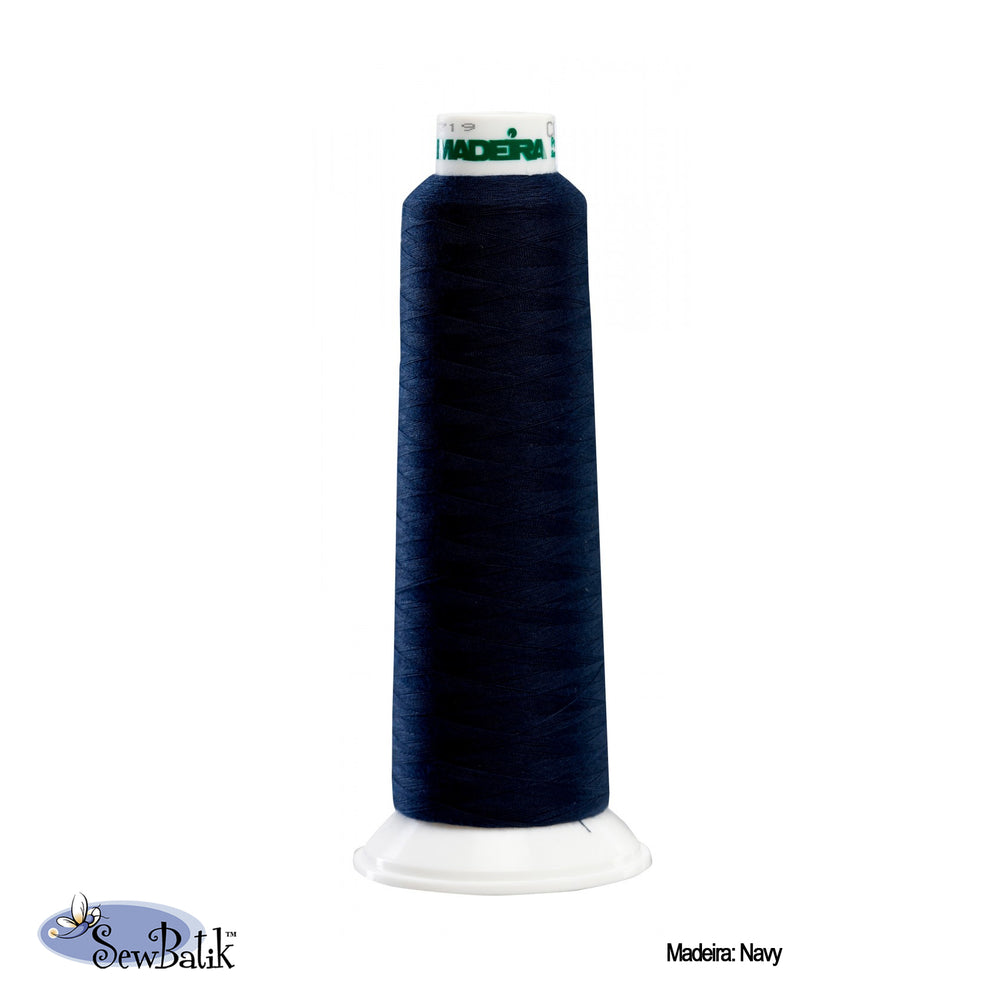 Madeira AeroLock Polyester Premium Serger Thread - Navy