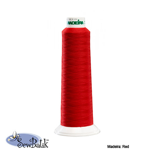 Madeira AeroLock Polyester Premium Serger Thread - Red