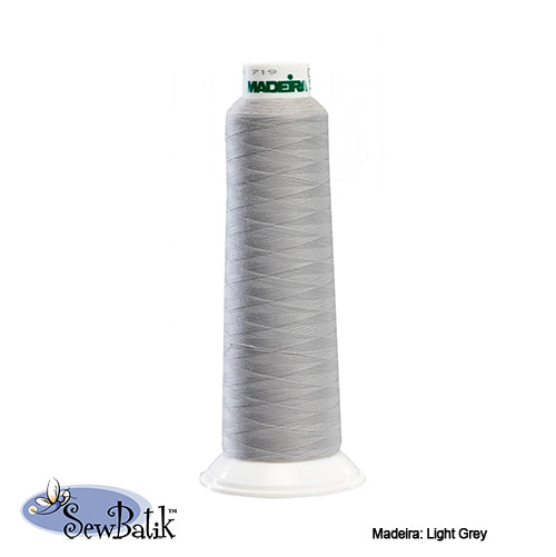 Madeira AeroLock Polyester Premium Serger Thread - Light Grey
