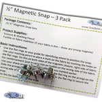 "Magnetic Snap Set - 1/2"" (3 Pack)"