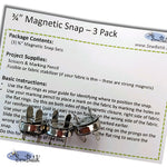 "Magnetic Snap Set - 3/4"" (3 Pack)"